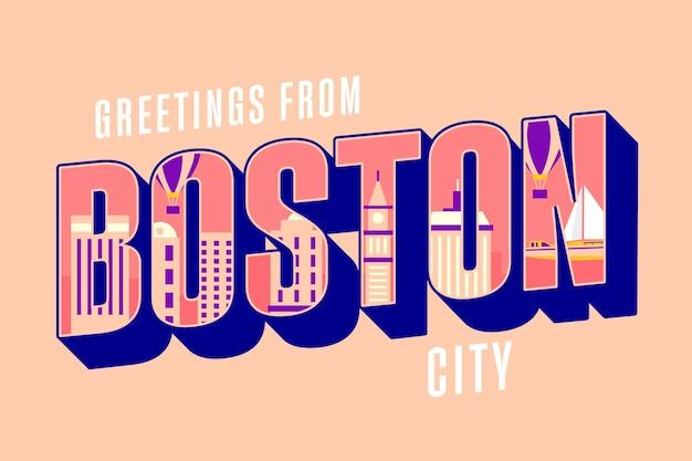 ボストン市のレタリング