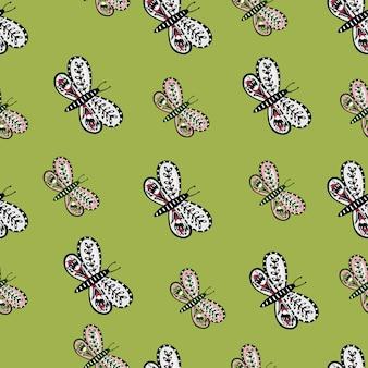 식물원 꽃 화려한 나비 민속 실루엣 완벽 한 패턴입니다.