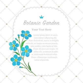 Голубая рамка для ботанического сада, не забывай меня