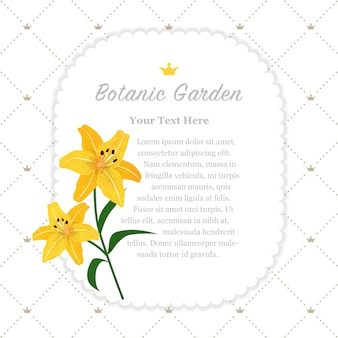 Botanic garden frame yellow tiger lily