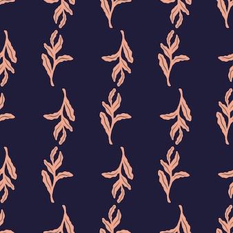 식물원 핑크 잎 원활한 낙서 패턴