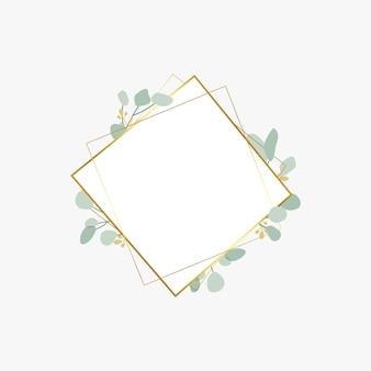 Botanic wedding badge