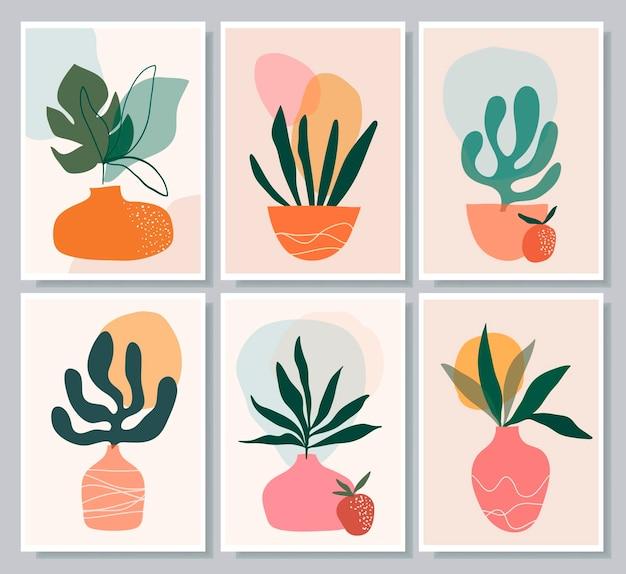 Botanical abstract wall art collection