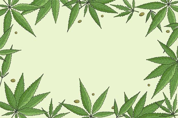 Fondo botanico della foglia della cannabis