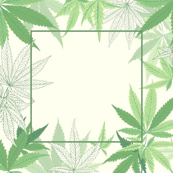 Botanical cannabis leaf background