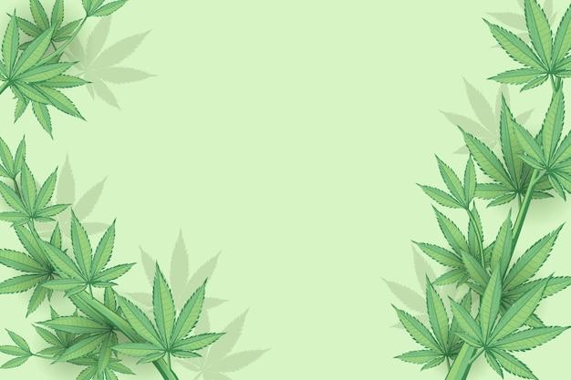 Ботанический фон листьев конопли