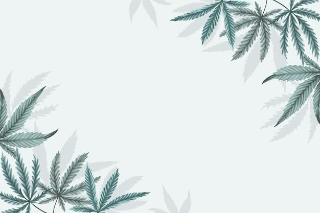 植物の大麻の葉の背景