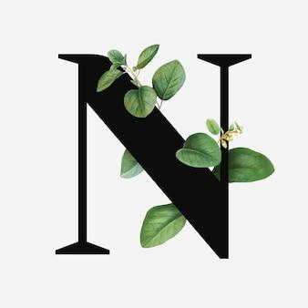 Botanical capital letter n