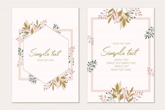 植物カードテンプレート。招待状