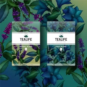 植物のカラフルな水彩花