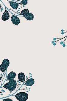 Ботаническая копия пространства на сером фоне
