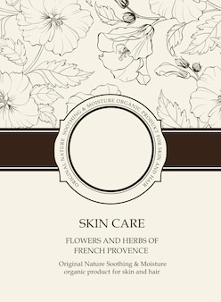 Botanical cover with floral elements.