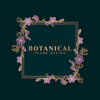 Botanical floral mockup illustration