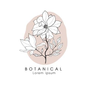 植物の花のロゴ。