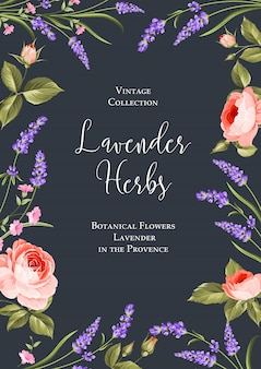 Botanical flowers poster.