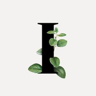 Botanical font letter i