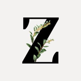Botanical font letter a