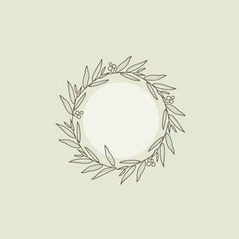 Botanical frame design element vector