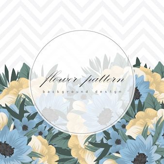 Botanical greeting invitation card template design