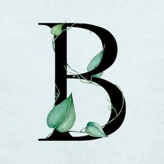 Disegno di illustrazione botanica di una lettera