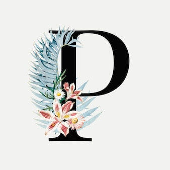 Botanical letter p