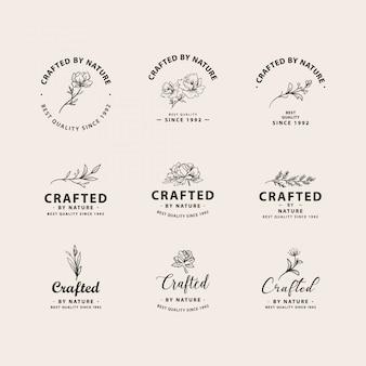 Botanical logo collection set