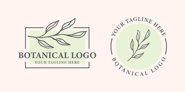 植物のロゴのテンプレートデザイン