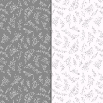 Botanical patterns with hand drawn branches
