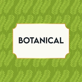 Botanical poster with leafs pattern