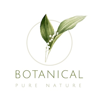 Botanical pure nature logo