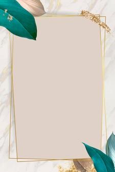 Botanical rectangle frame design
