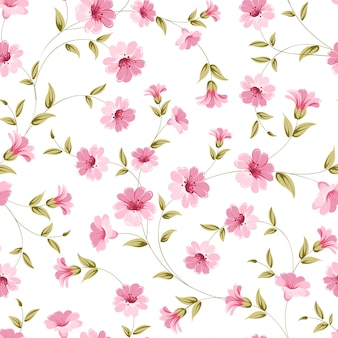 Botanical seamless pattern. blooming flower