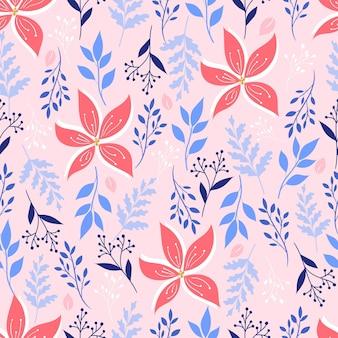 Ботанический бесшовный образец. цветочный фон