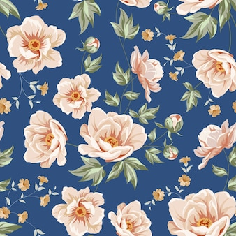 Botanical seamless pattern.