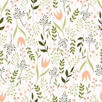 Botanical seamless pattern.