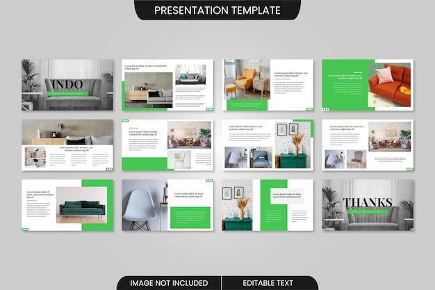 Botanical slide presentation template
