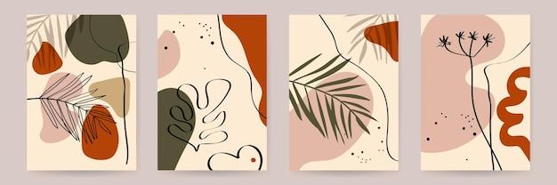 植物の壁アートデザインセットテンプレート