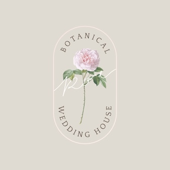 Botanical wedding card