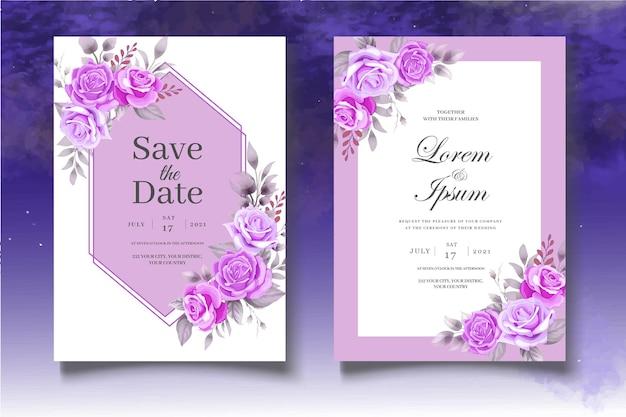 Ботанический шаблон приглашения на свадьбу