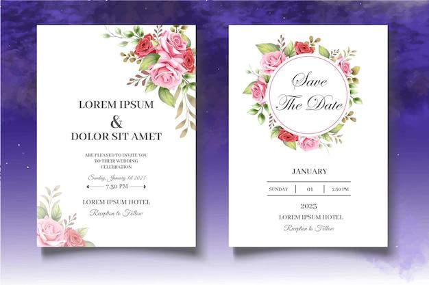 Botanical wedding invitation template