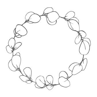Botanical wreath custom design