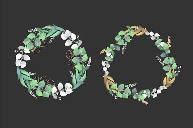 植物の花輪花フレームの背景