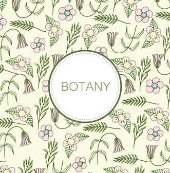 식물학 꽃 라벨