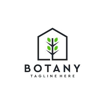 建物のロゴが入った植物学