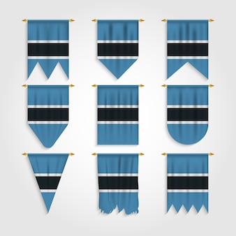 다른 모양의 보츠와나 국기, 다양한 모양의 보츠와나의 국기