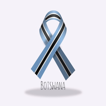 Disegno del nastro della bandiera del botswana