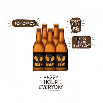 Bottle of beer isolated icon