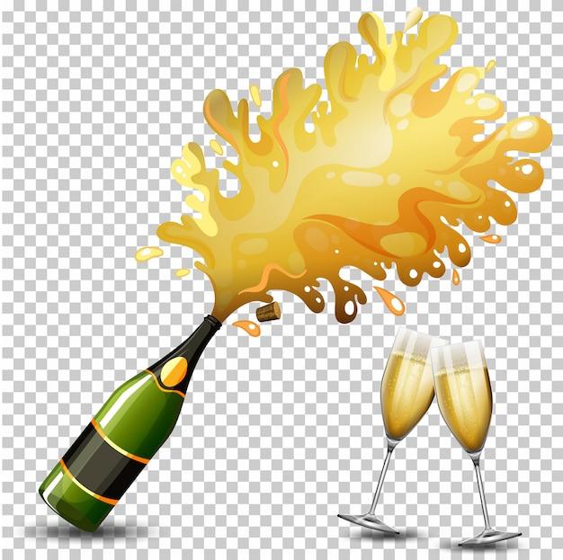 Bottle of champagne drink