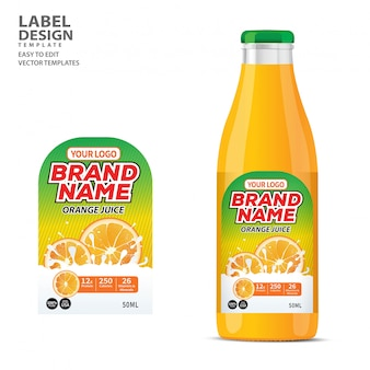 Bottle label  package template design