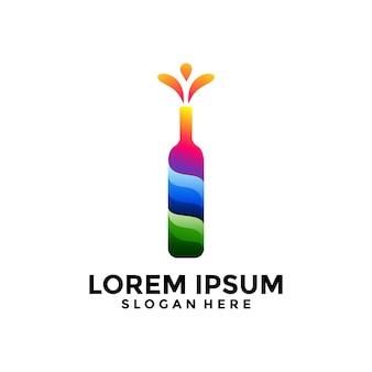 Bottle logo template